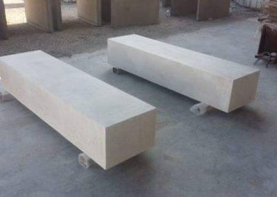 Hormigón blanco mobiliario urbano