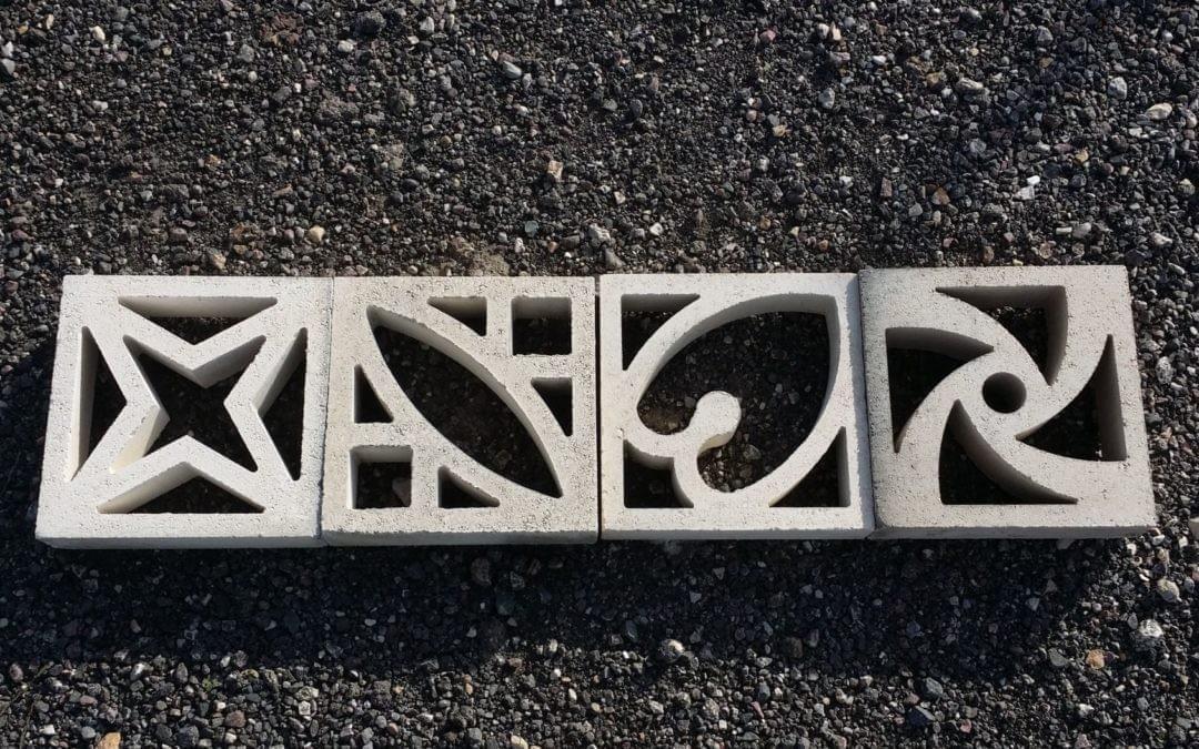 Celosias de hormigón para interior y exterior.