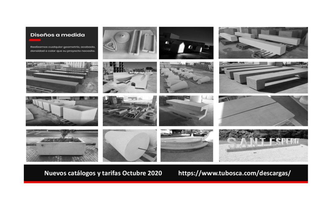 Catálogos y tarifas Octubre 2020