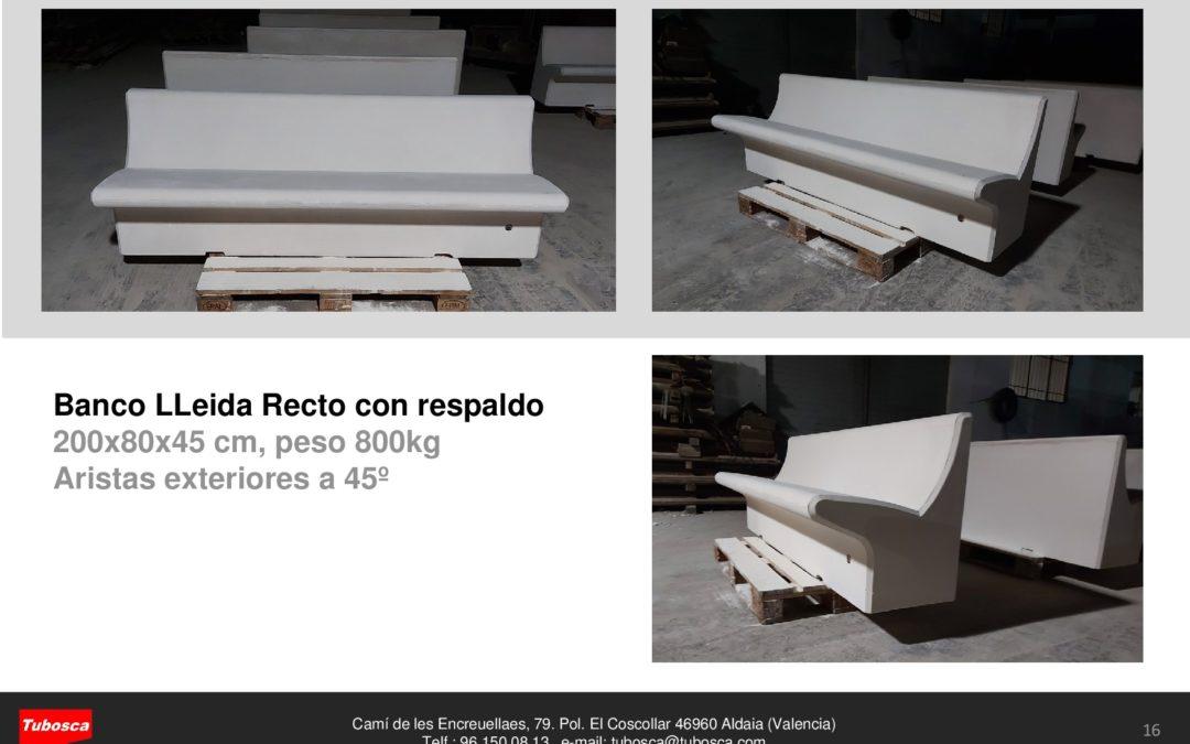 Banco Lleida recto 200 cm